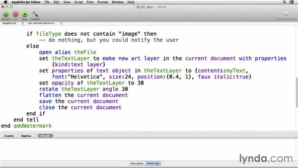 Preventing and catching errors: Up and Running with AppleScript