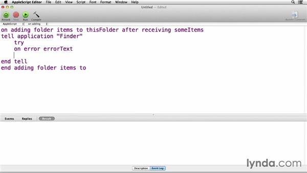 Folder actions: Up and Running with AppleScript