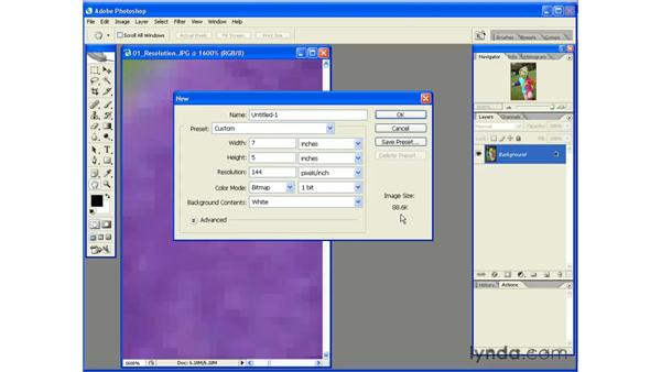 Resolution, Color Mode, and Bit Depth: Photoshop CS2 Essential Training