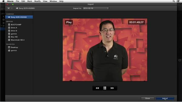 Importing from a tape-based camera: iMovie 10.0.2 Essential Training
