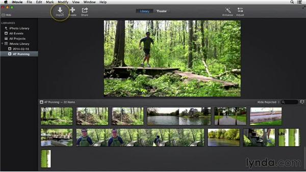 Capturing live action: iMovie 10.0.2 Essential Training
