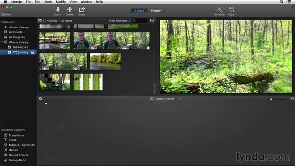 Interface overview: iMovie 10.0.2 Essential Training