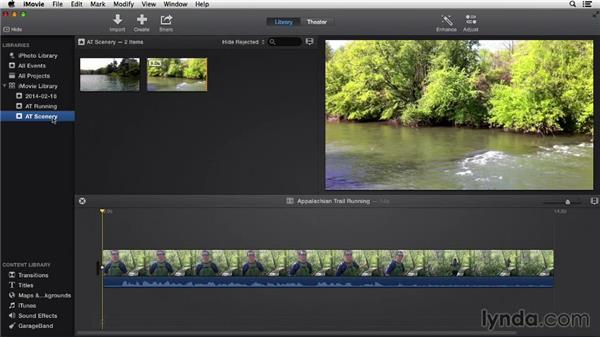 Organizing events: iMovie 10.0.2 Essential Training
