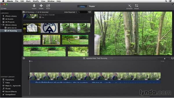 Rating clips: iMovie 10.0.2 Essential Training