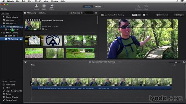 Moving events to a different hard drive: iMovie 10.0.2 Essential Training