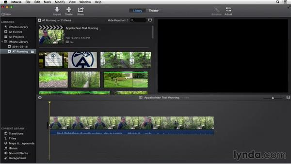 Creating a new project: iMovie 10.0.2 Essential Training