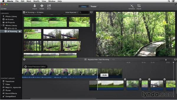Fine-tuning clips: iMovie 10.0.2 Essential Training