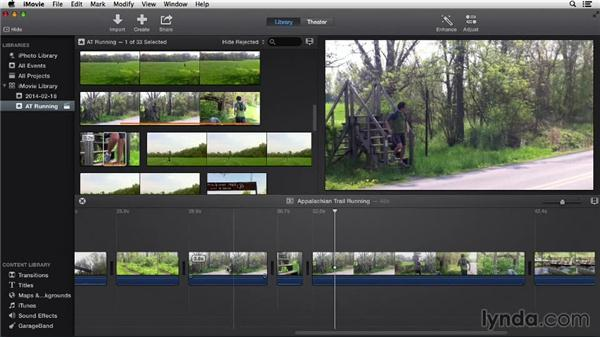 Splitting, inserting, and connecting clips: iMovie 10.0.2 Essential Training