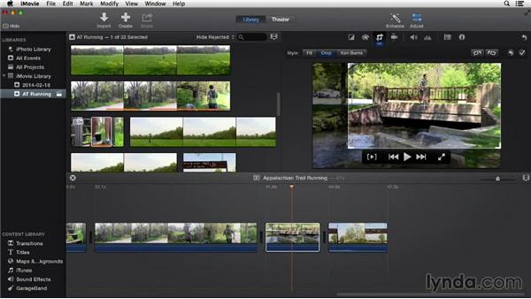 Cropping and rotating: iMovie 10.0.2 Essential Training