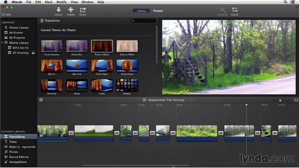 Using transitions: iMovie 10.0.2 Essential Training
