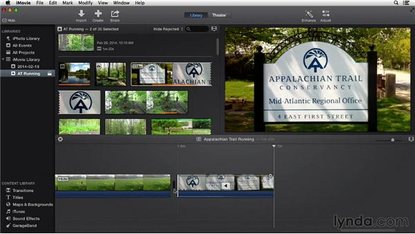 Adjusting the speed of clips: iMovie 10.0.2 Essential Training