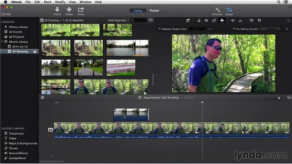 Adding cutaways, side-by-side video, and picture-in-picture effects: iMovie 10.0.2 Essential Training