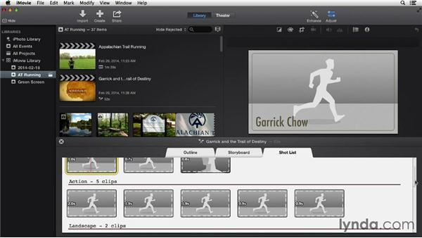 Creating movie trailers: iMovie 10.0.2 Essential Training