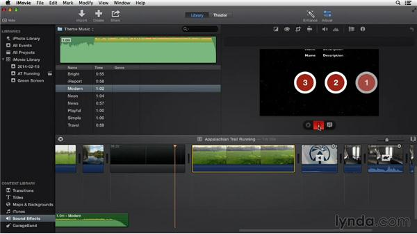 Adding a voiceover: iMovie 10.0.2 Essential Training
