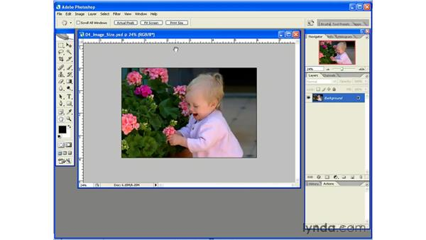 Accurate Print Size Preview: Photoshop CS2 Essential Training