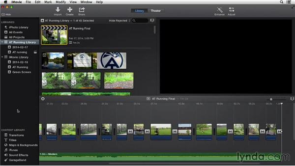 Exporting to iMovie Theater: iMovie 10.0.2 Essential Training