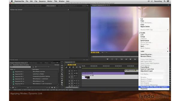 Applying modes: Premiere Pro and After Effects: Enhancing Production Value