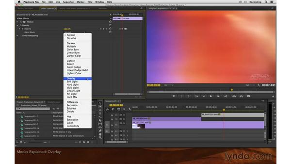 Modes explained: Premiere Pro and After Effects: Enhancing Production Value