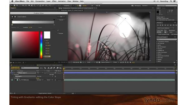Tinting with gradients: Premiere Pro and After Effects: Enhancing Production Value