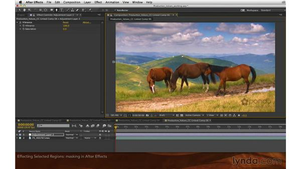 Affecting selected regions: Premiere Pro and After Effects: Enhancing Production Value