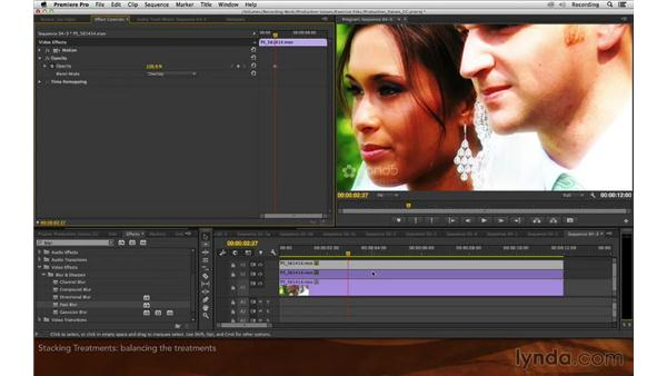 Stacking treatments: Premiere Pro and After Effects: Enhancing Production Value