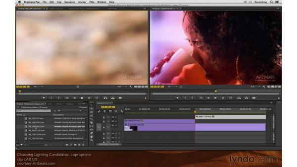 Choosing lighting candidates: Premiere Pro and After Effects: Enhancing Production Value
