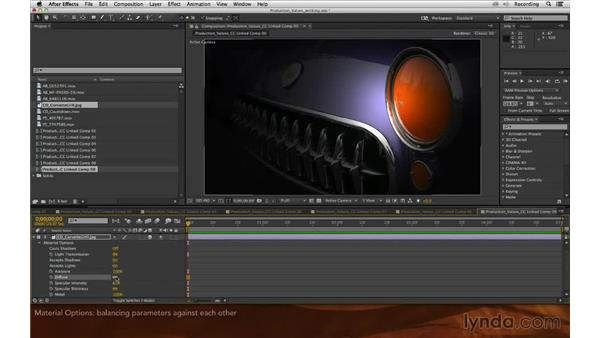 Material options: Premiere Pro and After Effects: Enhancing Production Value