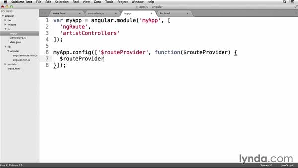 Working with the $routeProvider service: Up and Running with AngularJS 1