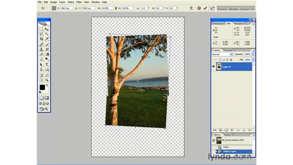 Scaling, Skewing and Rotating with Free Transform: Photoshop CS2 Essential Training
