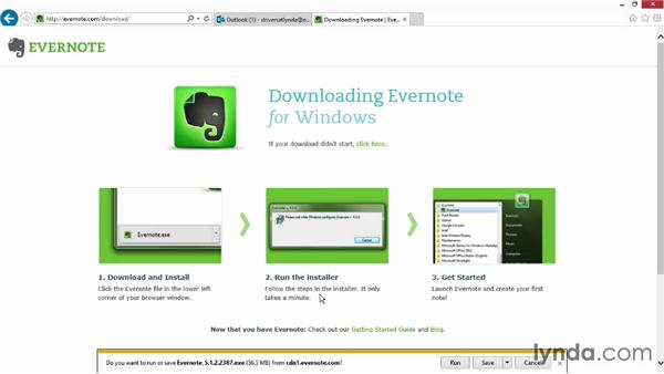 Creating your Evernote account: Up and Running with Evernote for Windows