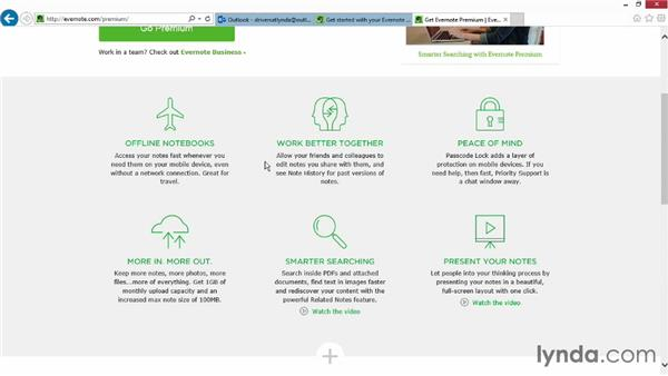 Installing Evernote: Up and Running with Evernote for Windows