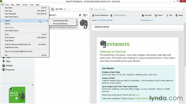 Backing up and sharing notebook contents: Up and Running with Evernote for Windows (2014)