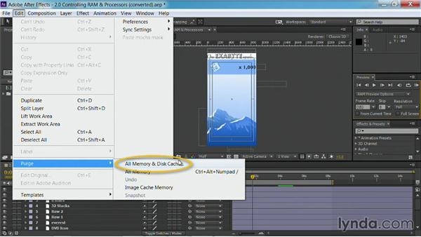 Purging RAM: After Effects Guru: Faster Previews and Rendering
