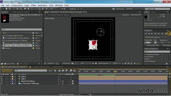 Using the Region of Interest: After Effects Guru: Faster Previews and Rendering