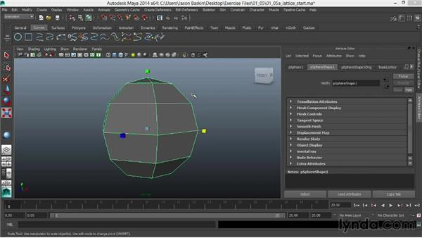 Using lattices and wrap deformers: Facial Rigging in Maya
