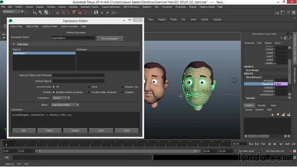 Using the clamp expression to create a more advanced GUI: Facial Rigging in Maya