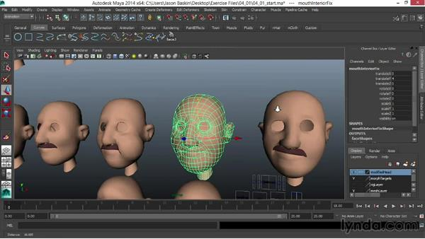 Understanding the joint-based setup: Facial Rigging in Maya