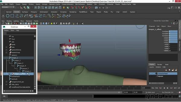 Rigging the jaw: Facial Rigging in Maya