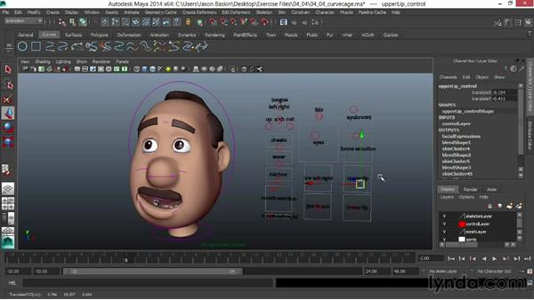 Creating a support structure: Facial Rigging in Maya