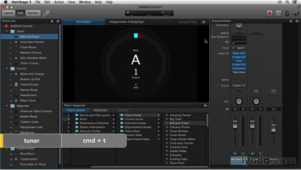 Getting started with MainStage concert templates: Up and Running with MainStage 3