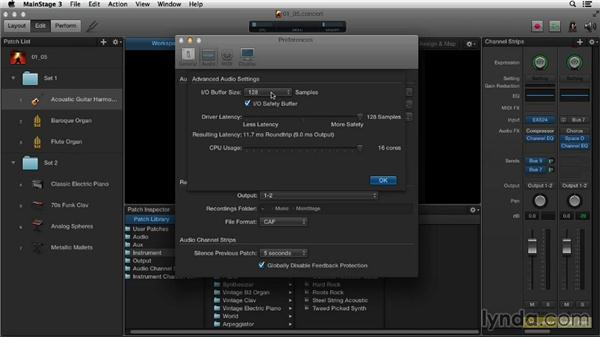 Configuring and optimizing your audio and MIDI preferences: Up and Running with MainStage 3