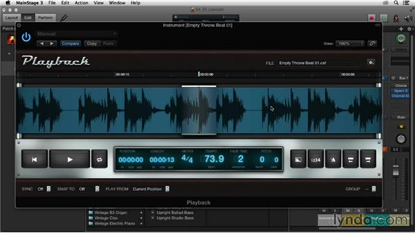 Playback plugin overview: Up and Running with MainStage 3