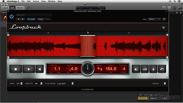 Utilizing the Loopback plugin for live looping: Up and Running with MainStage 3