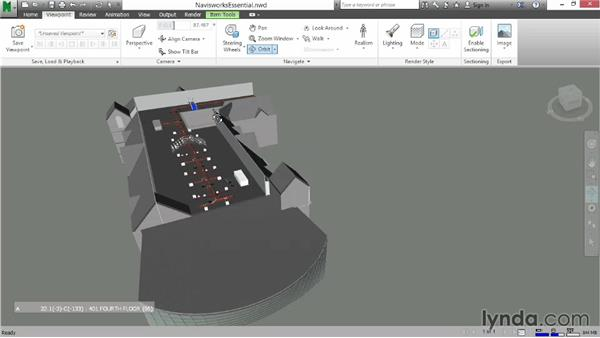 Rotating your model with the Orbit tool: Navisworks Essential Training