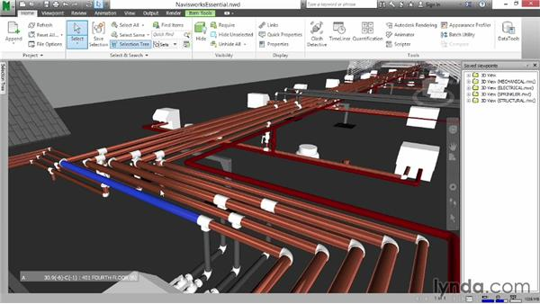 Finding the shortest distance between objects: Navisworks Essential Training