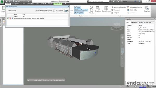 Using the Selection Inspector: Navisworks Essential Training