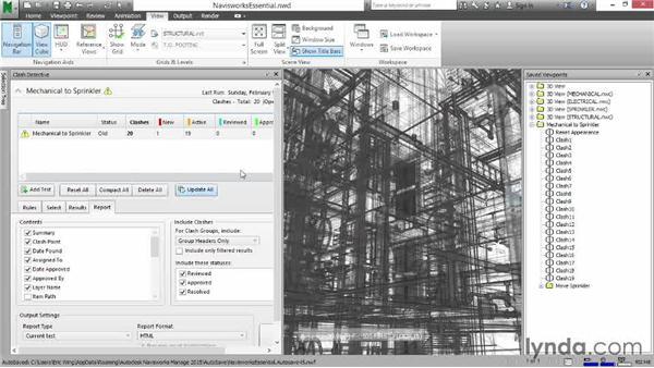 Creating reports: HTML: Navisworks Essential Training