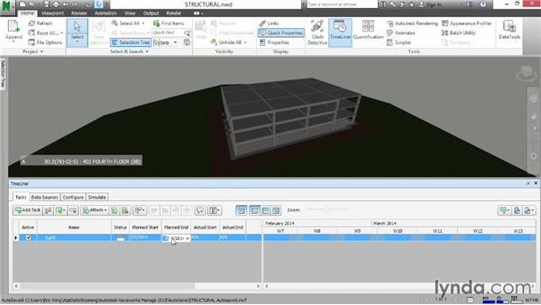 Creating tasks: Navisworks Essential Training