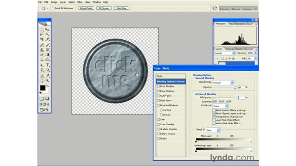 Using Inner Shadow to Create a Carve Effect: Photoshop CS2 Essential Training