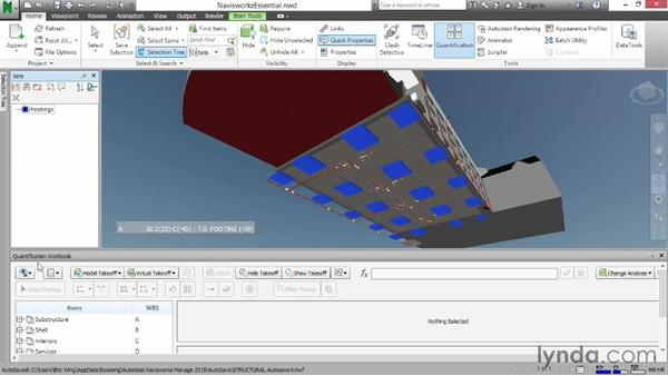 Dragging items to the workbook: Navisworks Essential Training